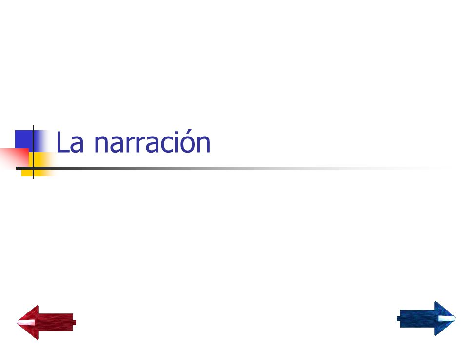 La narración