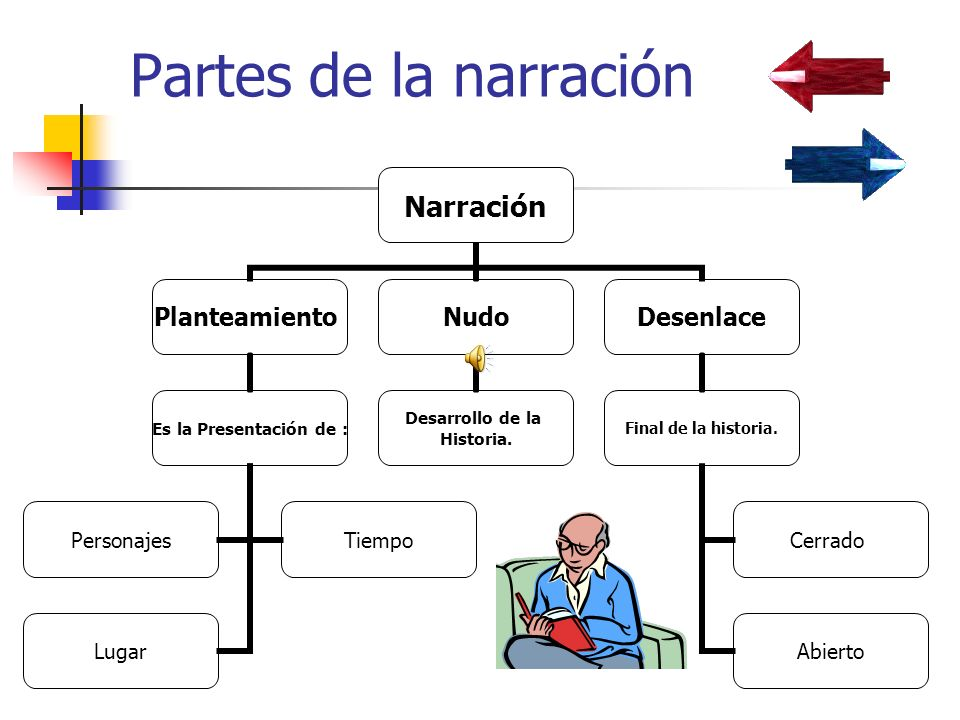 Partes de la narración
