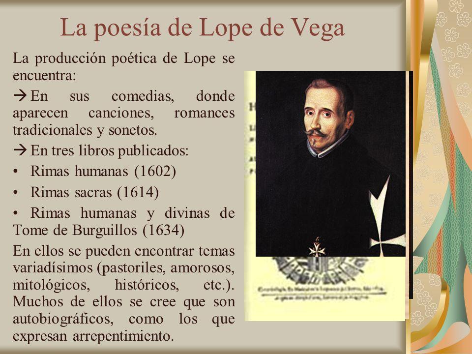 La poesía de Lope de Vega
