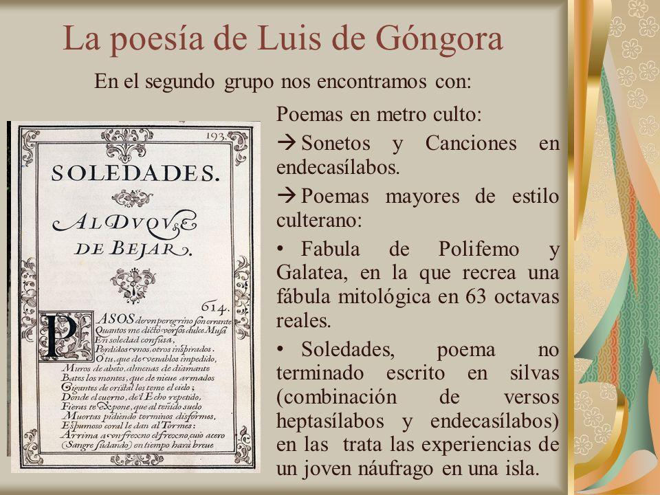 La poesía de Luis de Góngora