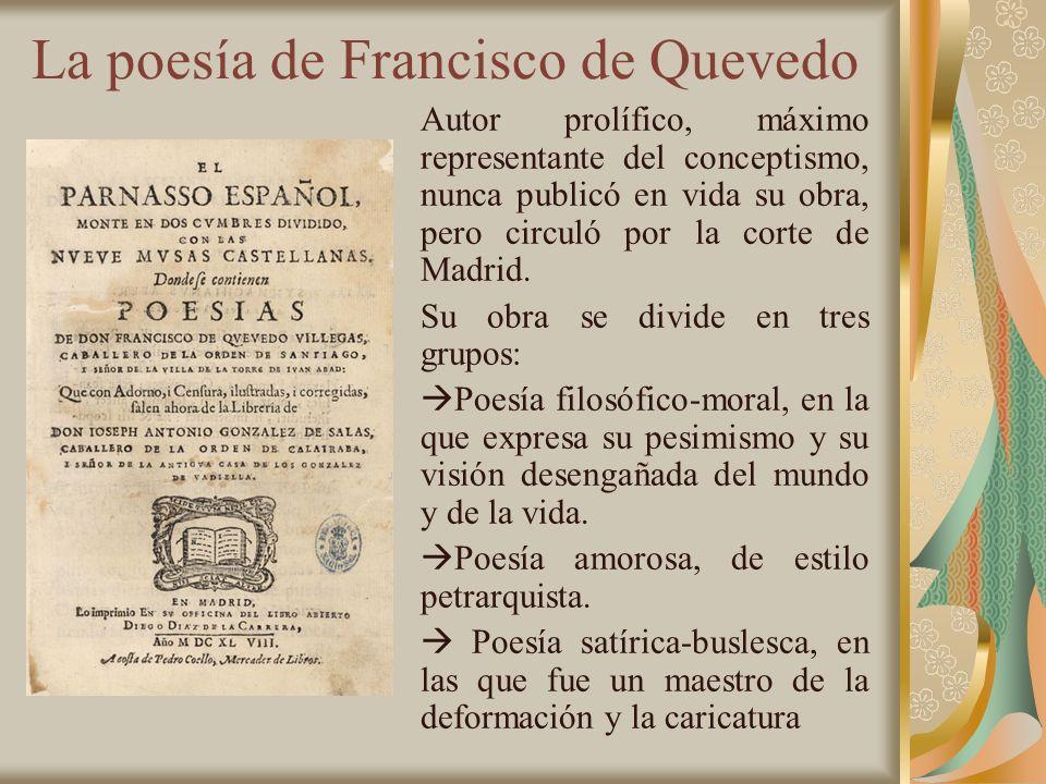 La poesía de Francisco de Quevedo
