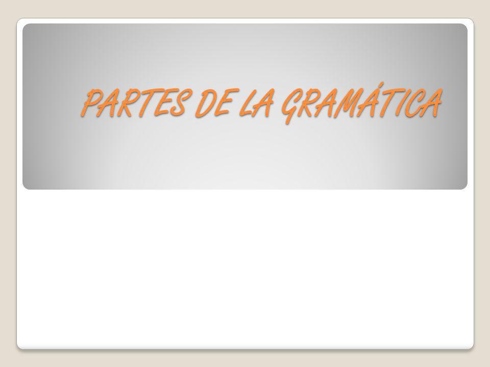 PARTES DE LA GRAMÁTICA