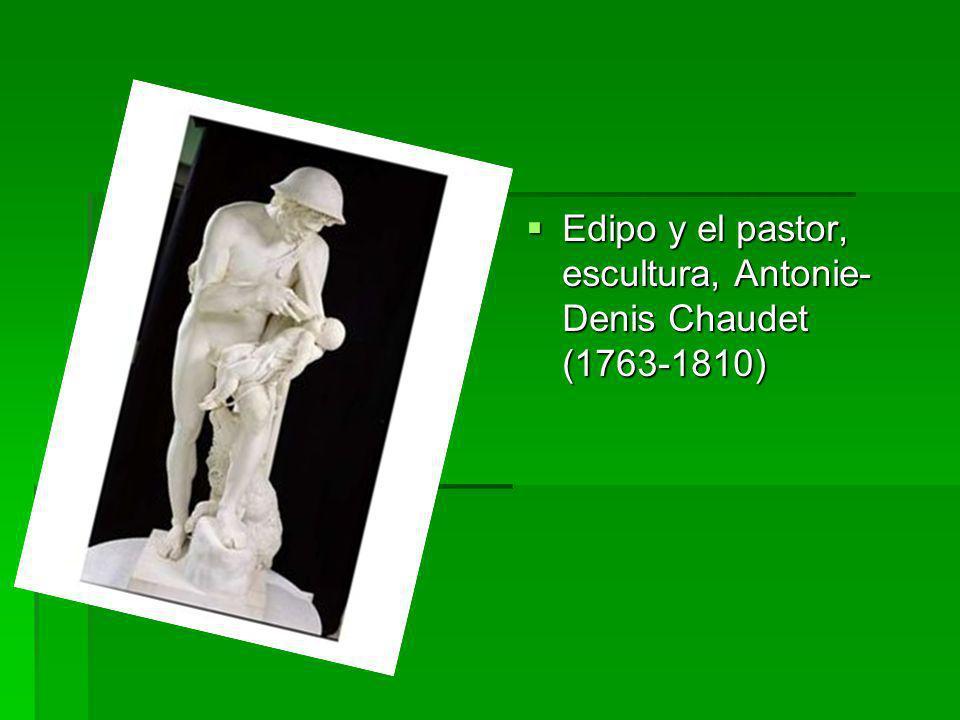 Edipo y el pastor, escultura, Antonie-Denis Chaudet (1763-1810)