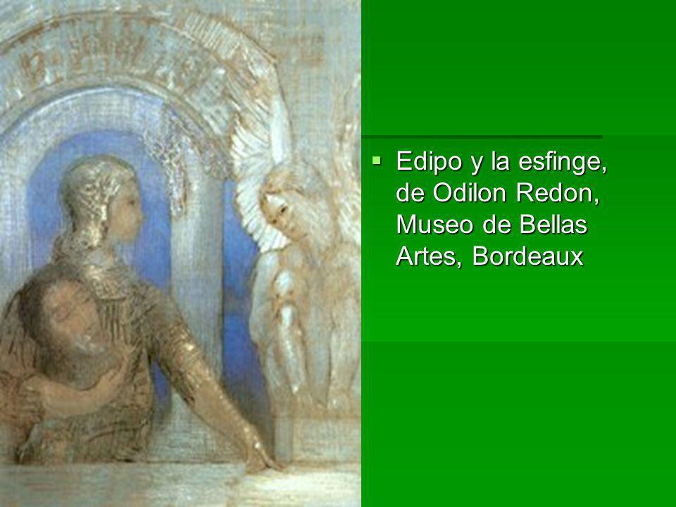 Edipo y la esfinge, de Odilon Redon, Museo de Bellas Artes, Bordeaux