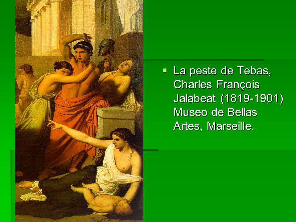 La peste de Tebas, Charles François Jalabeat (1819-1901) Museo de Bellas Artes, Marseille.