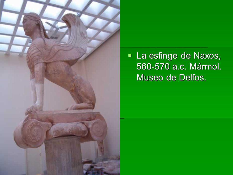 La esfinge de Naxos, 560-570 a.c. Mármol. Museo de Delfos.
