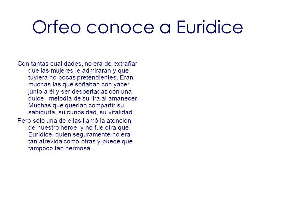 Orfeo conoce a Euridice