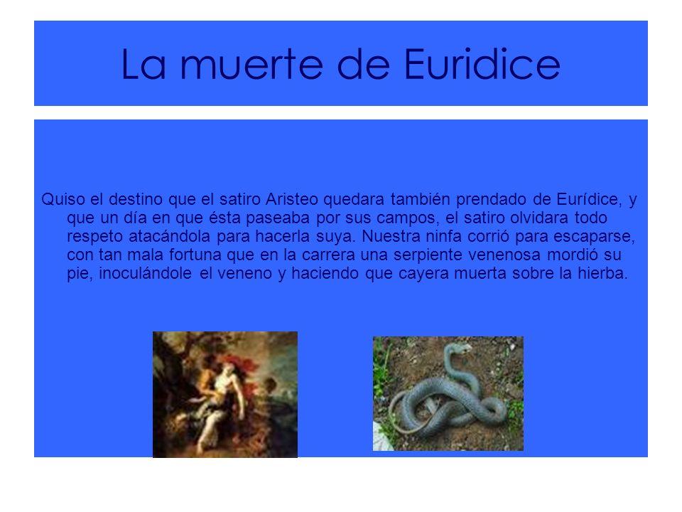La muerte de Euridice