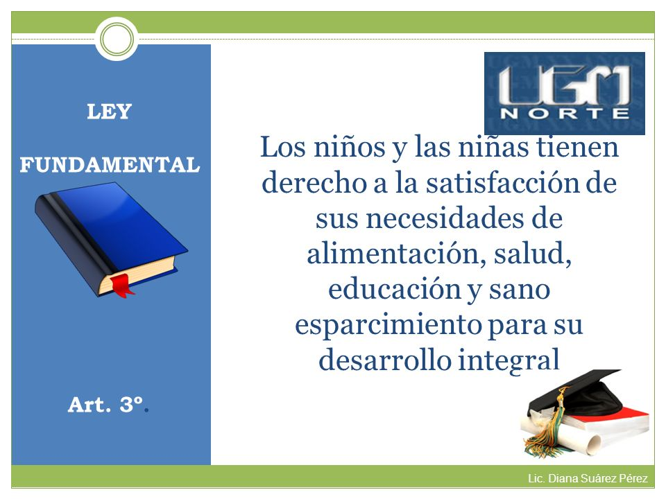 LEY FUNDAMENTAL. Art. 3º.