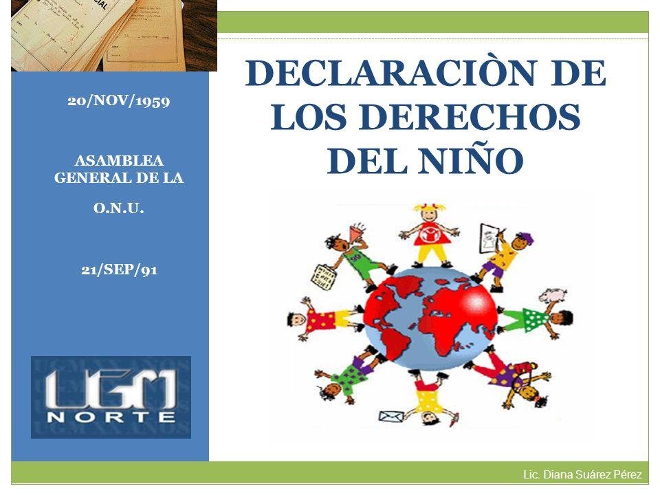 DECLARACIÒN DE LOS DERECHOS DEL NIÑO