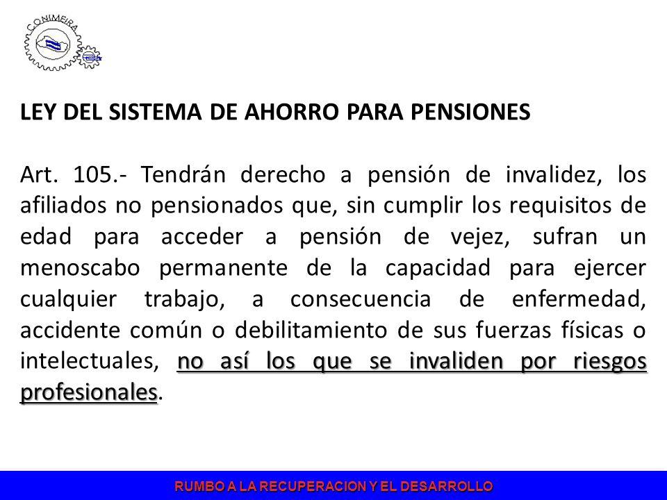 LEY DEL SISTEMA DE AHORRO PARA PENSIONES