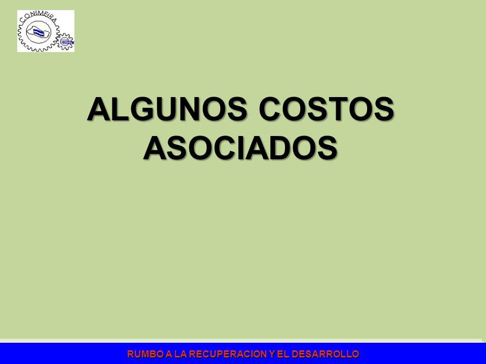 ALGUNOS COSTOS ASOCIADOS
