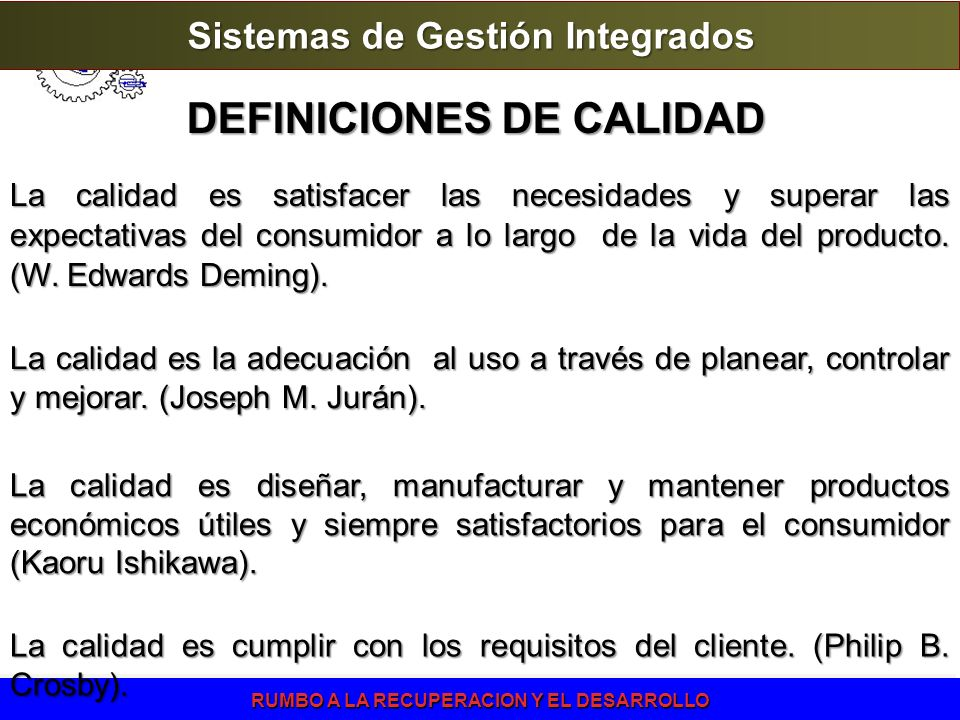 DEFINICIONES DE CALIDAD