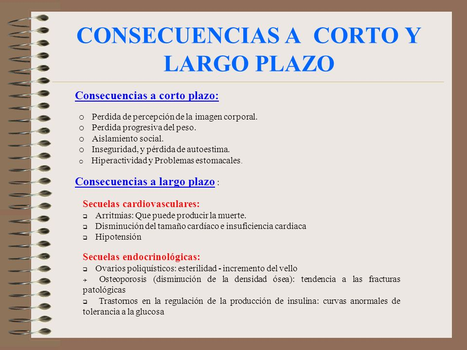 CONSECUENCIAS A CORTO Y LARGO PLAZO
