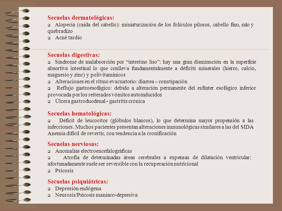 Secuelas dermatológicas: