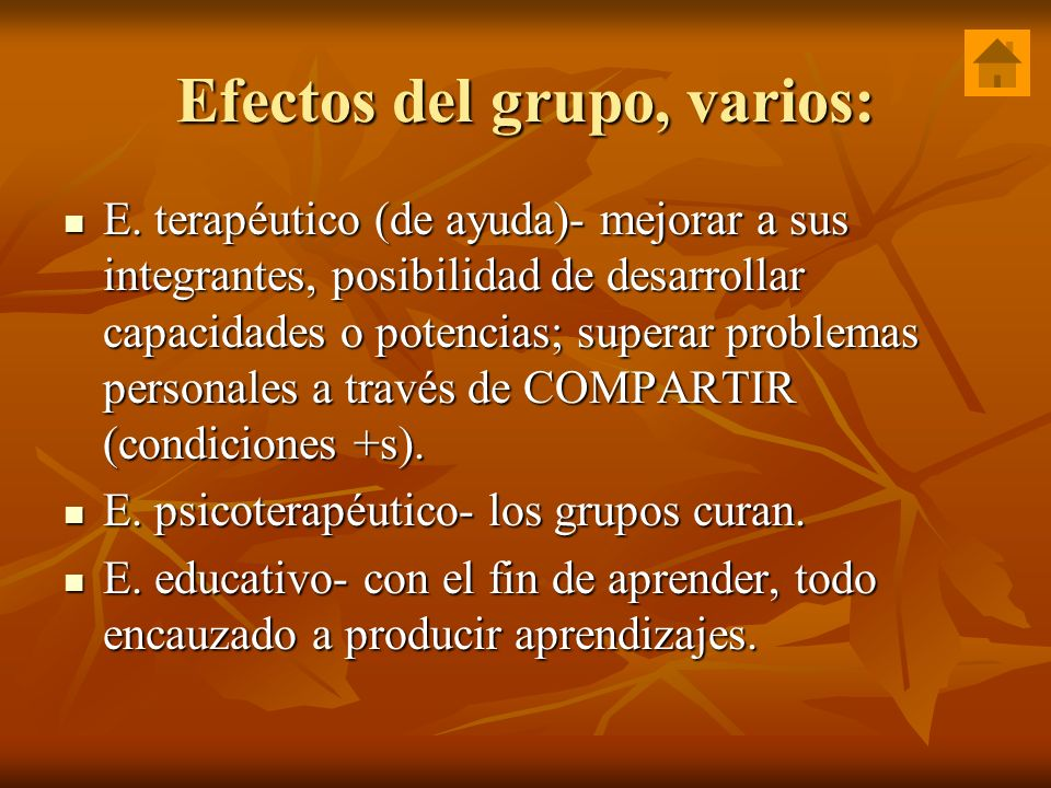 Efectos del grupo, varios:
