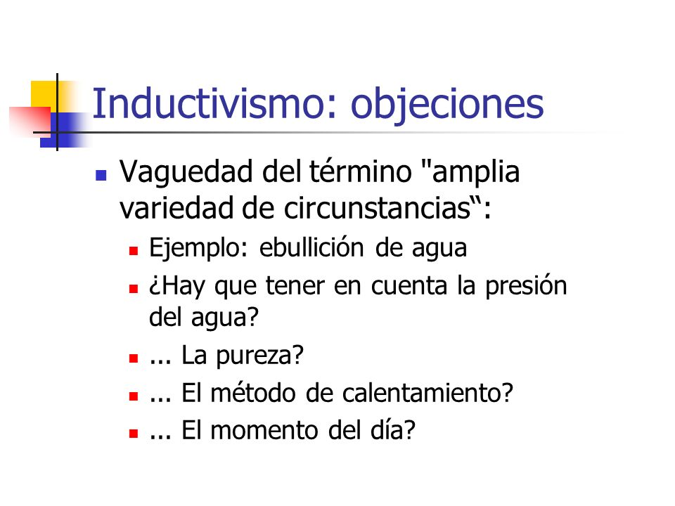 Inductivismo: objeciones