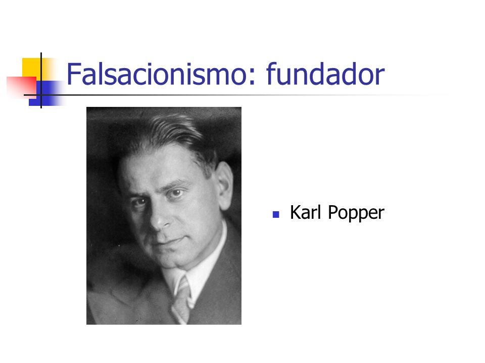 Falsacionismo: fundador