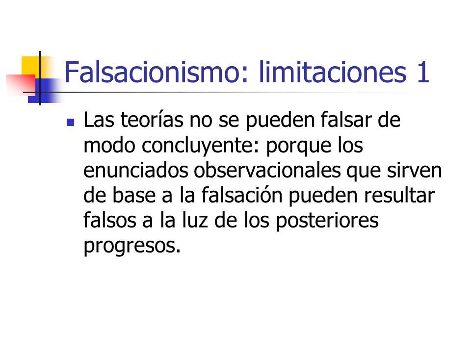 Falsacionismo: limitaciones 1