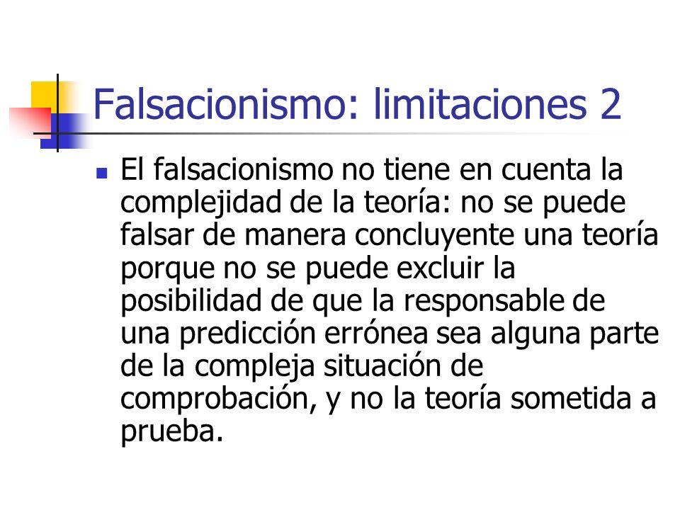 Falsacionismo: limitaciones 2