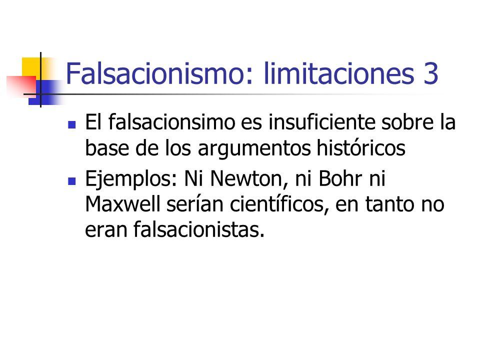 Falsacionismo: limitaciones 3