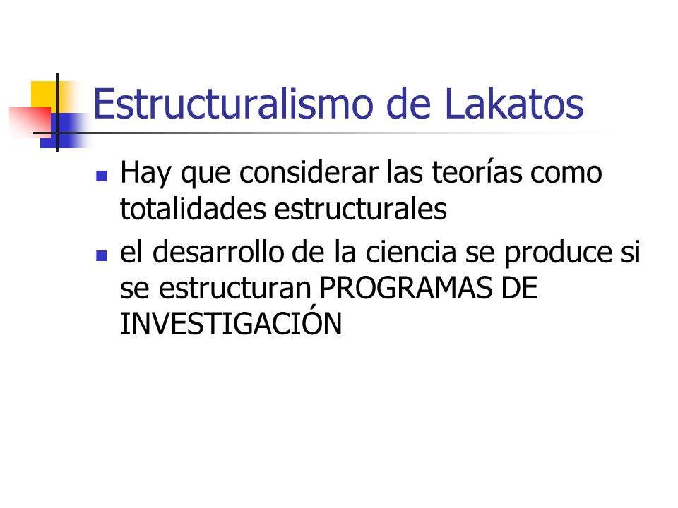Estructuralismo de Lakatos