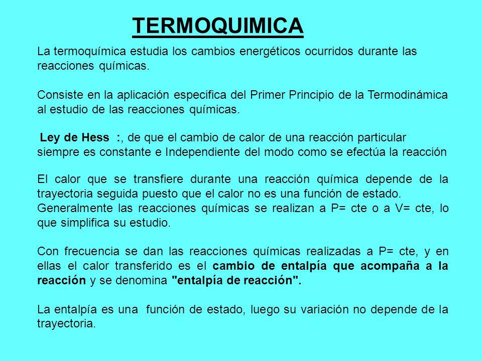 TERMOQUIMICA La termoquímica estudia los cambios energéticos ocurridos durante las. reacciones químicas.
