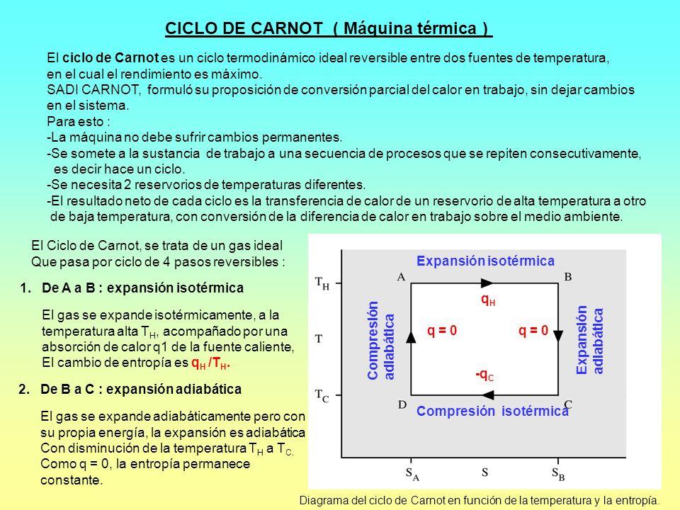 CICLO DE CARNOT ( Máquina térmica )