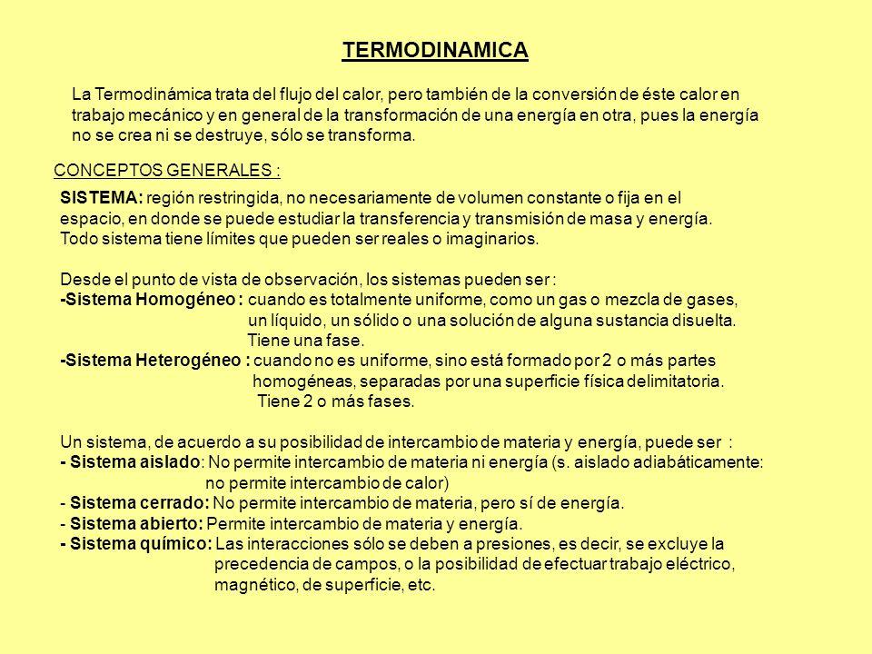 TERMODINAMICA La Termodinámica trata del flujo del calor, pero también de la conversión de éste calor en.