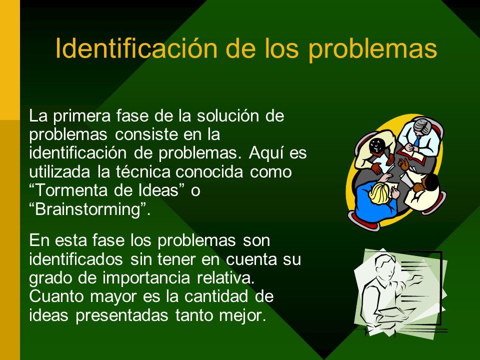 Identificación de los problemas