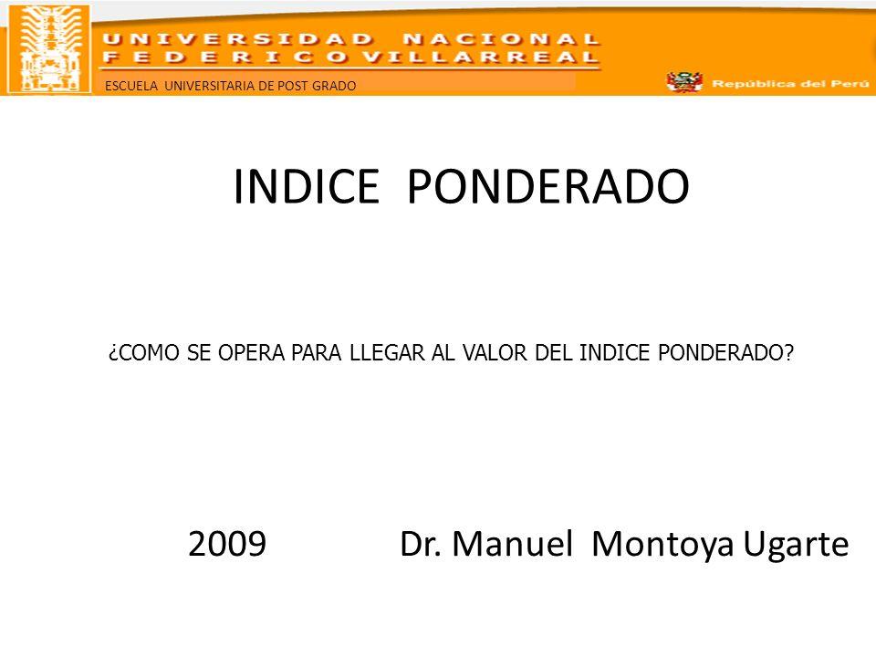 2009 Dr. Manuel Montoya Ugarte