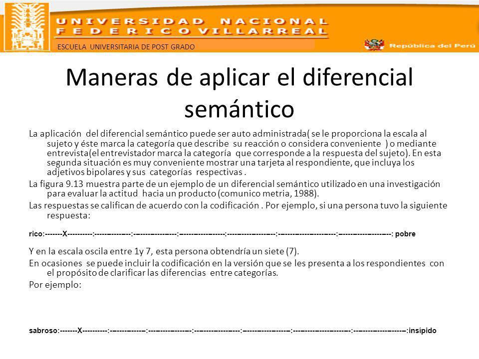 Maneras de aplicar el diferencial semántico