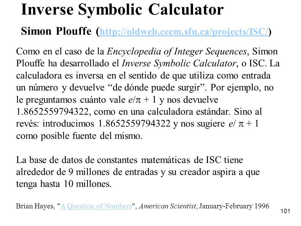 Inverse Symbolic Calculator