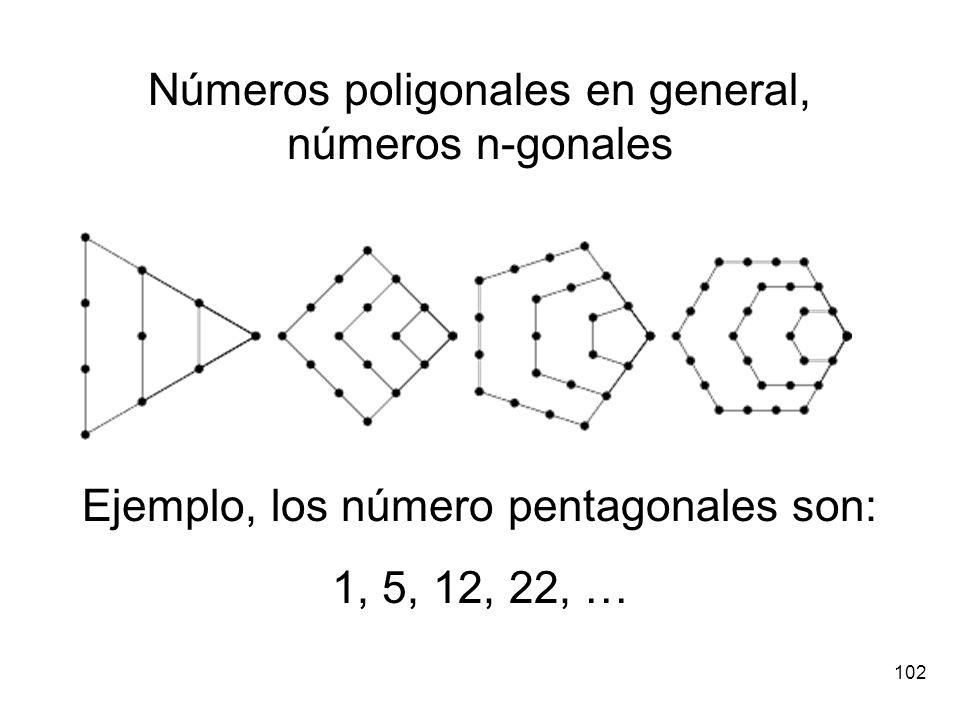 Números poligonales en general, números n-gonales