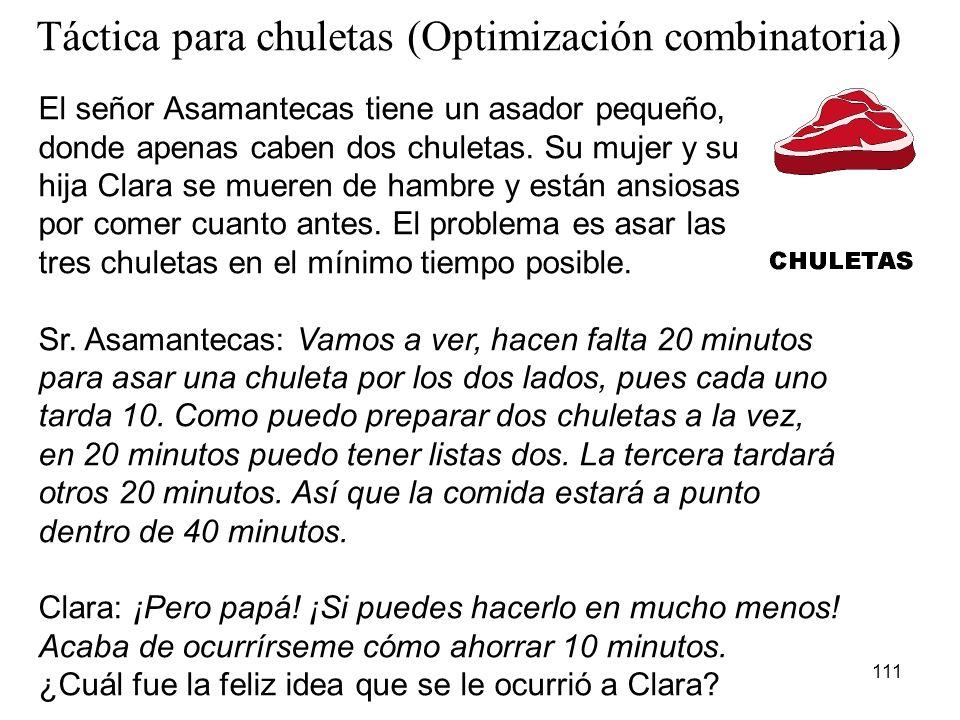 Táctica para chuletas (Optimización combinatoria)