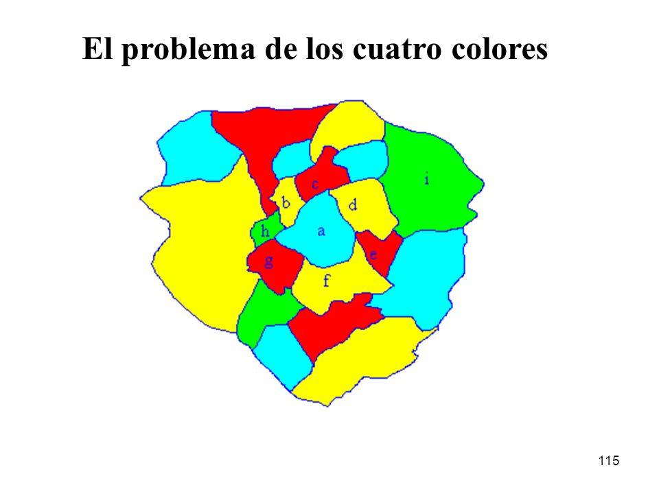 El problema de los cuatro colores