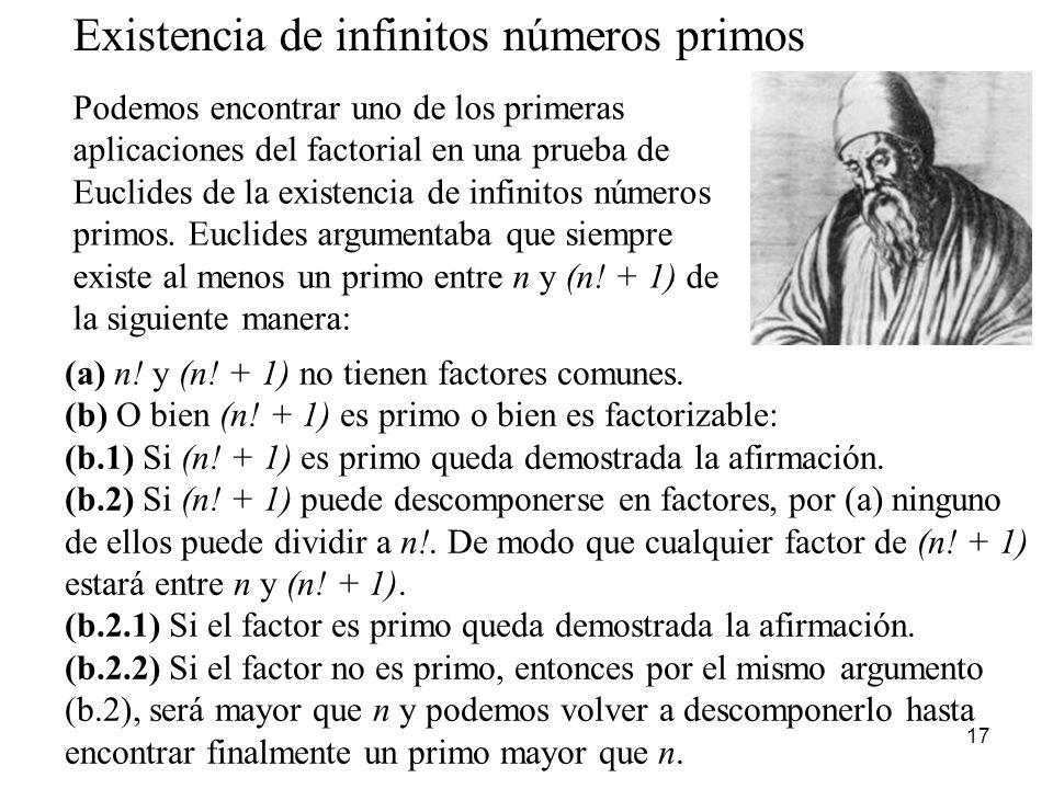 Existencia de infinitos números primos