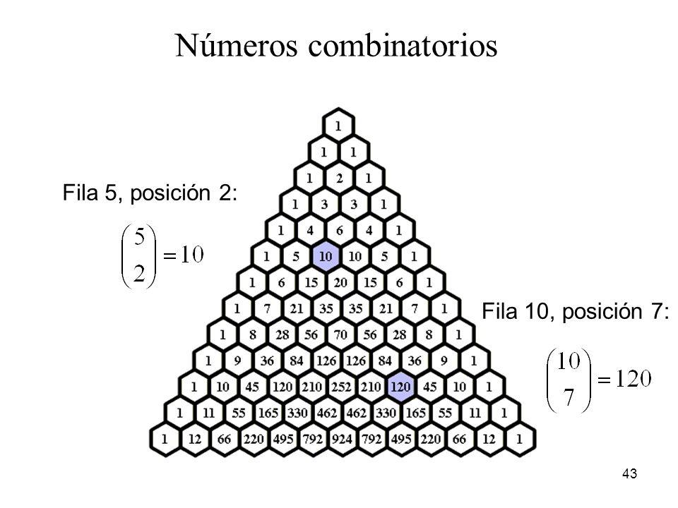Números combinatorios