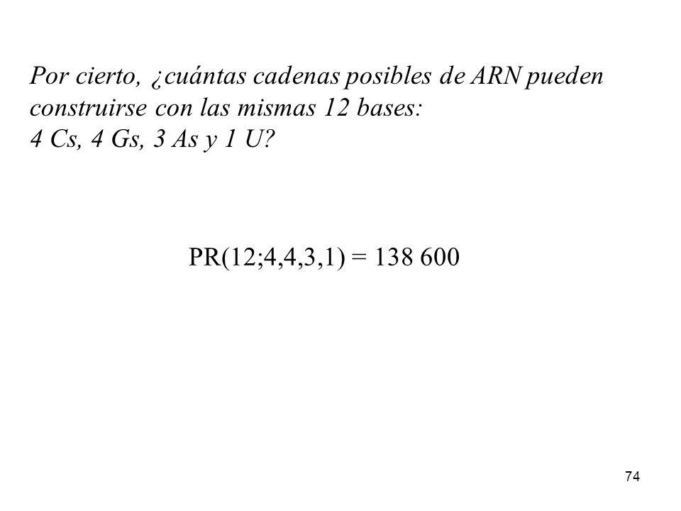 Por cierto, ¿cuántas cadenas posibles de ARN pueden