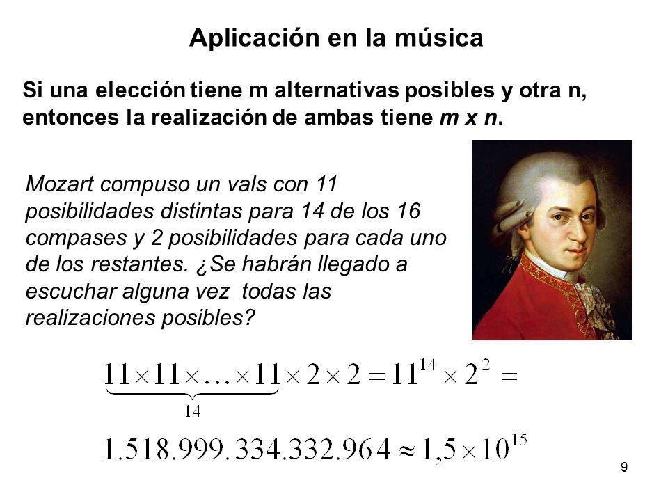 Aplicación en la música