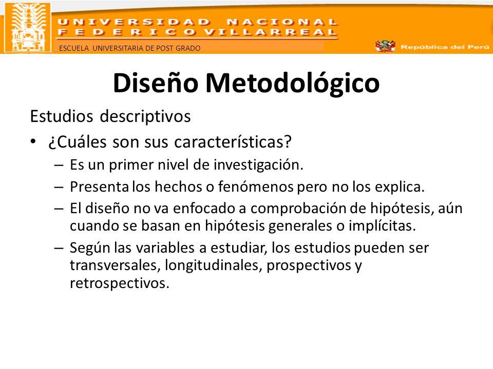 Diseño Metodológico Estudios descriptivos