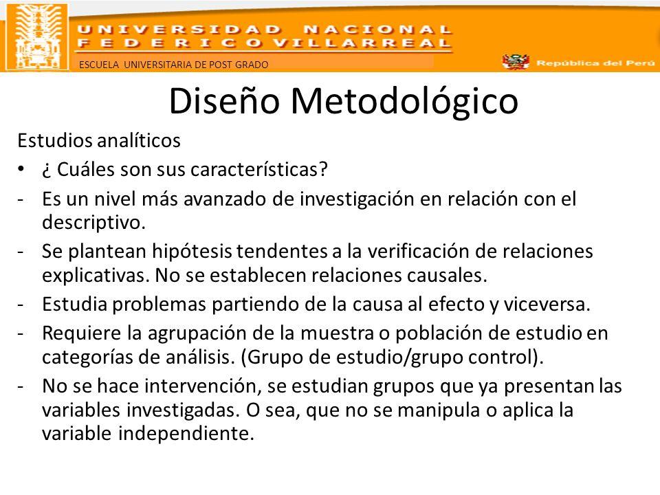 Diseño Metodológico Estudios analíticos