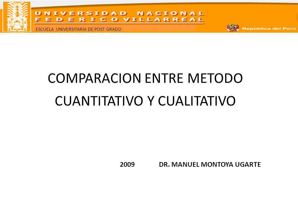 COMPARACION ENTRE METODO CUANTITATIVO Y CUALITATIVO