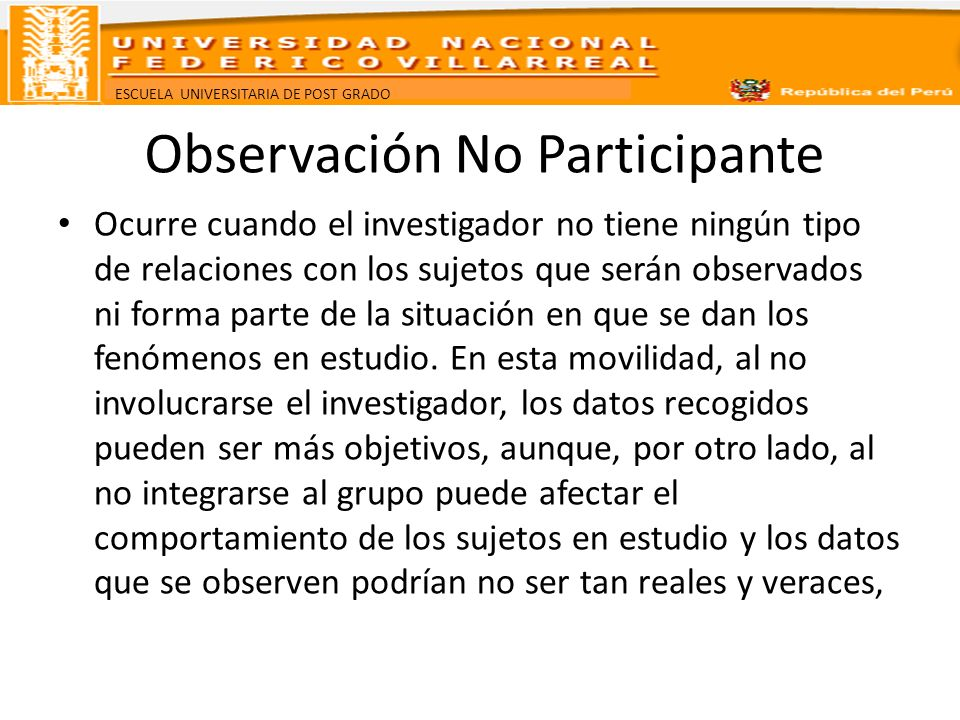 Observación No Participante