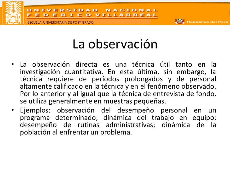 La observación