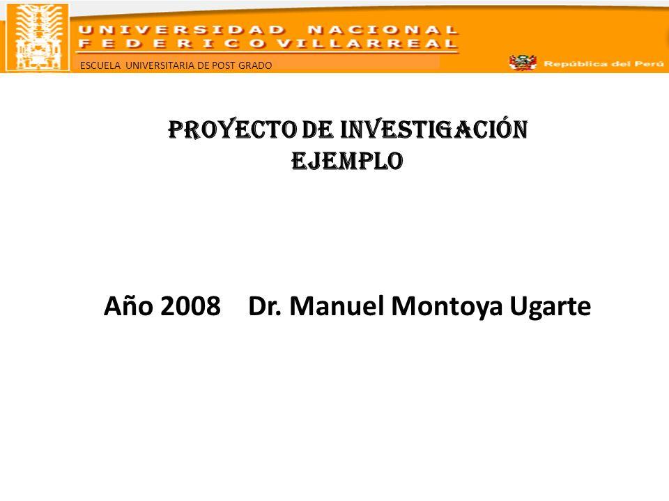 PROYECTO DE INVESTIGACIÓN EJEMPLO