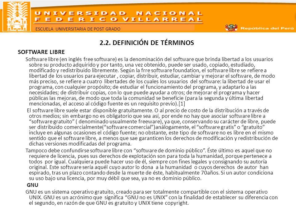 2.2. DEFINICIÓN DE TÉRMINOS