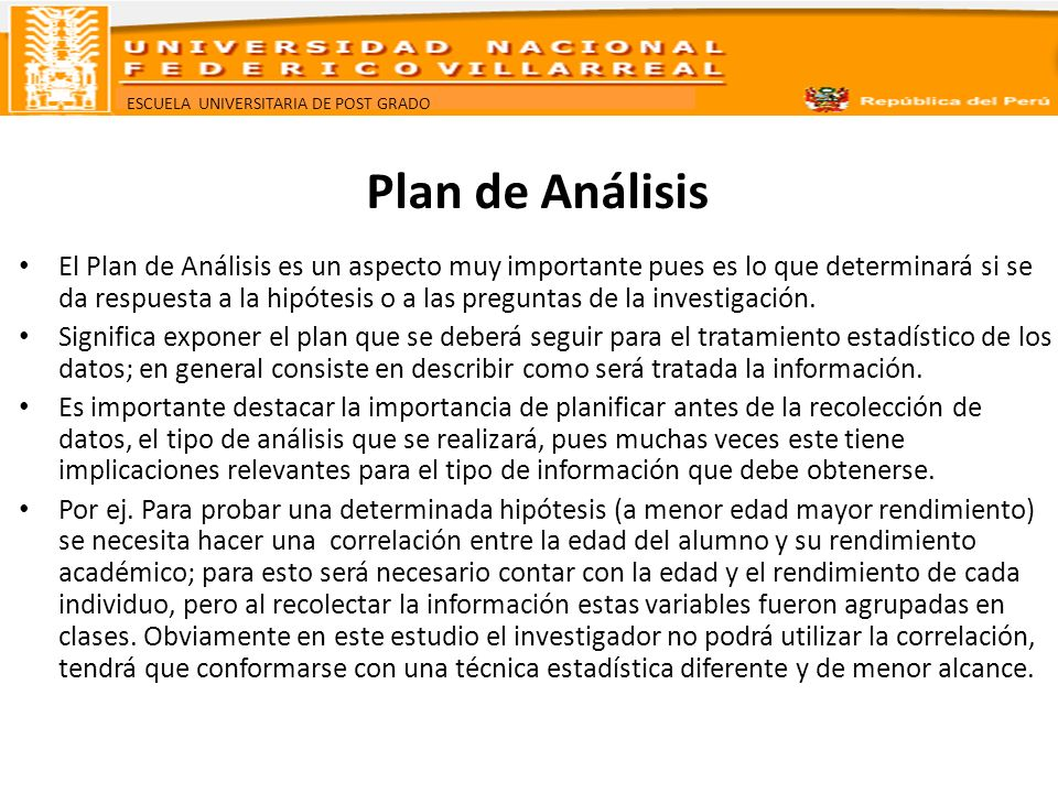 Plan de Análisis