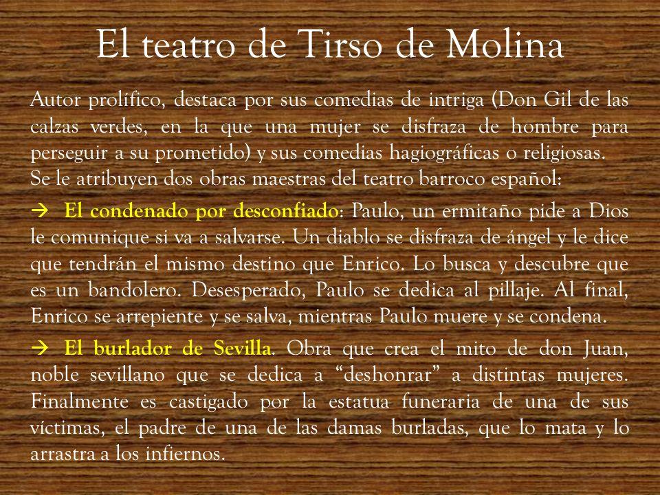 El teatro de Tirso de Molina
