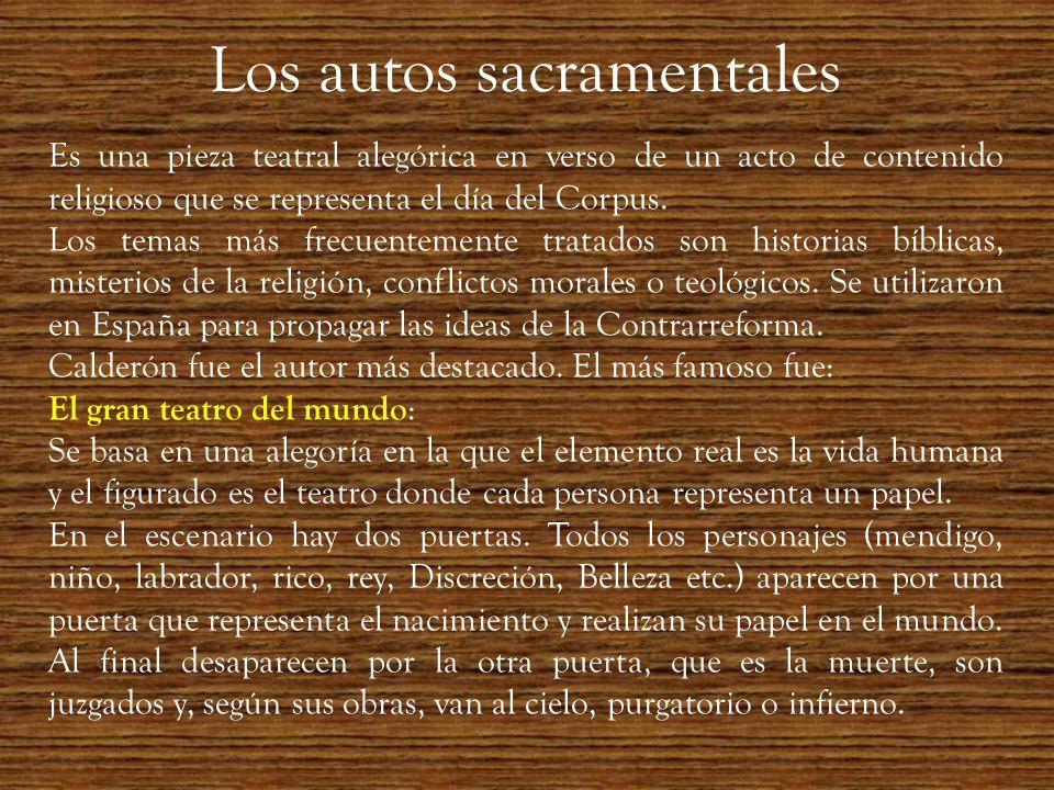 Los autos sacramentales